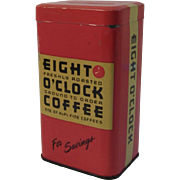 Eight O'Clock Coffee Tin Bank Advertising Vintage Kitchen Kitchenware