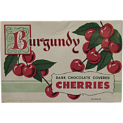 Burgundy Dark Chocolate Covered Cherries Candy Box