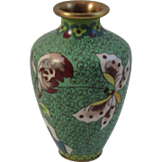 Vintage Cloisonne Vase with Butterfly