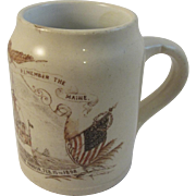 Remember the Maine Ironstone Mug Spanish American War