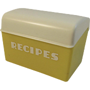 Lustro Ware Yellow Recipe Box Vintage Retro Kitchen