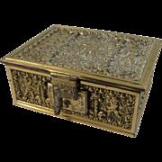Erhard & Söhne Renaissance Revival Brass Repousse Box Sohne
