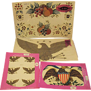 Meyercord American Eagle Decal Transfers and Fruit Patriotic