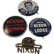 Nixon Ike Agnew Lodge Political Pins