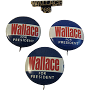 Wallace 68 for President Pins