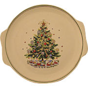 Salem China Christmas Eve Tree Platter Tray