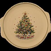 Salem China Christmas Eve Tree Platter Tray
