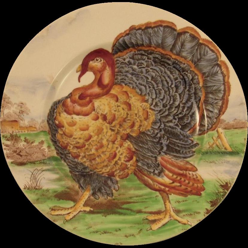 Midwinter Turkey Transferware Dinner Plate from ...