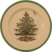 Copeland Spode Christmas Tree Dinner Plate Older Brown Mark