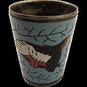 Russian Enamel Bird Cup Soviet Era