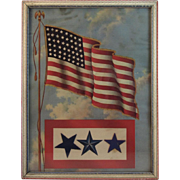 WWII Blue Star Mother's Service Flag Picture Patriotic