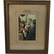 Madonna and Child Italian Religious Chromolithograph Print