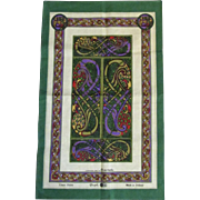 Fingal Irish Linen Book of Kells Illustration Tea Towel