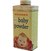 Mennen Baby Powder Tin