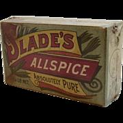 Slade's Allspice Cardboard Spice Box