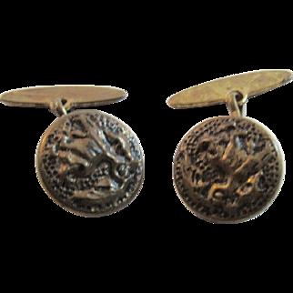 Victorian Brass Cuff Links