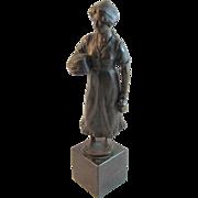 Bronze Milkmaid Statue Signed Hubert