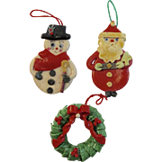 Vintage Dough Christmas Ornaments