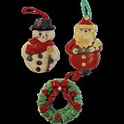 Vintage Dough Christmas Ornaments