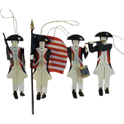 Tin Revolutionary War Soldier Ornaments for Christmas