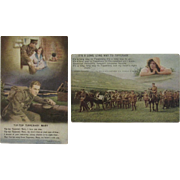 2 World War 1 Tipperary Postcards WWI