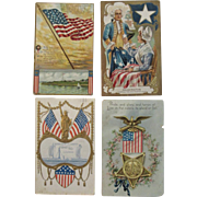 4 Patriotic Postcards