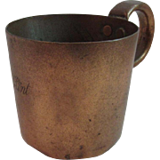 Antique English Copper 1 Pint Mug