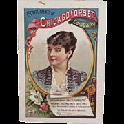 Chicago Corset Adelina Patti Advertising Trade Card Opera Singer Ball's Corsets