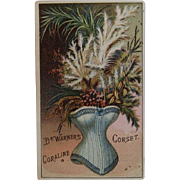 Coraline Corset Advertising Trade Card Dr. Warners Victorian Advertising
