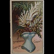 Coraline Corset Advertising Trade Card Dr. Warners Victorian Advertising