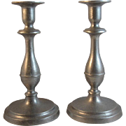 RWP Wilton Pewter Candlesticks 9 Inch Plough Tavern