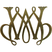 Brass Williamsburg Cypher Trivet by Virginia Metalcrafters William and Mary