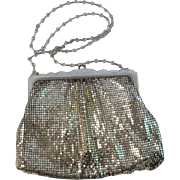 Whiting & Davis Silver Mesh Evening Bag Purse