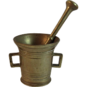 Apothecary Brass Mortar and Pestle FREE SHIPPING