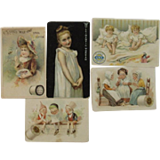 5 Thread Trade Cards Clark's Coats Willimantic