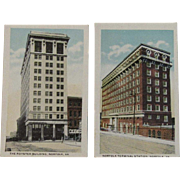 Two Miniature Norfolk Virginia Postcards