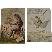Frog Trade Cards from Palmer's & Hoyt's German Cologne