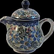 Polish Pottery 1 Cup Teapot By H Kedzierska