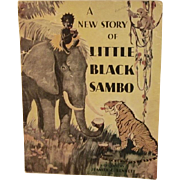 1932 A New Story of Little Black Sambo Whitman Children's Oversized Illustrated Book