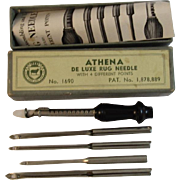 Vintage Athena De Luxe Rug Needle