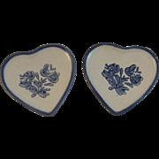 2 Pfaltzgraff Yorktowne Heart Butter Pats