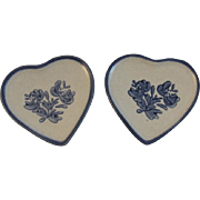 2 Pfaltzgraff Yorktowne Heart Butter Pats Tableware