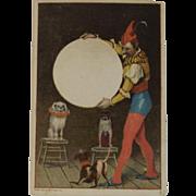 1883 Tobin Trade Card Dogs Jumping Through Hoop