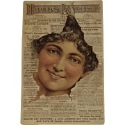 Hood's Tooth Powder Victorian Advertising Trade Card
