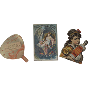 3 Perfume Advertising Trade Cards Florida Water, Grand Duchess and Fraxinella