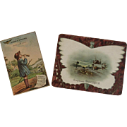 2 Victorian Coffee Advertising Trade Cards Sarica and Mokaska