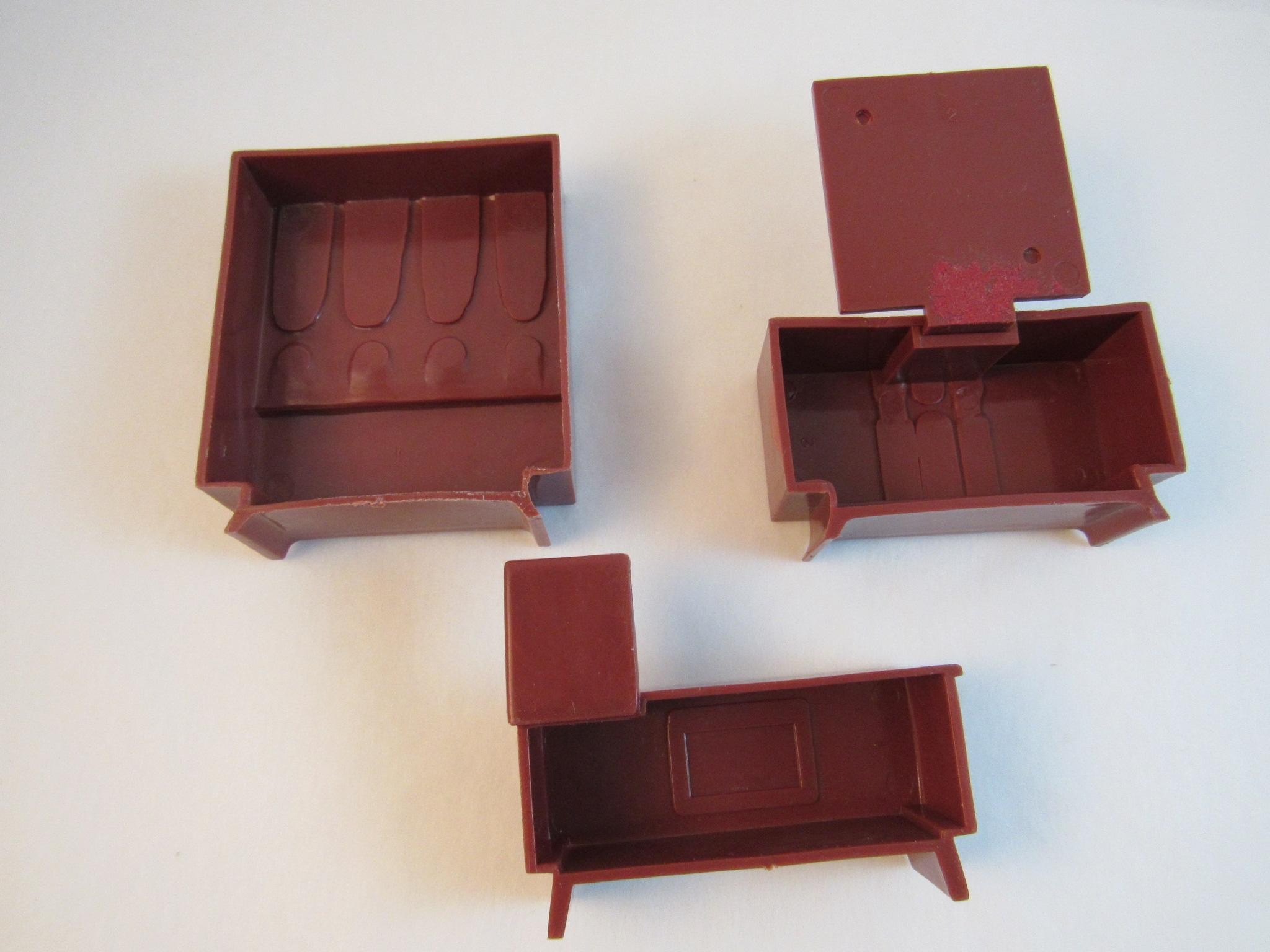 Mid century modern dollhouse furniture 3 pieces from for Big modern dollhouse