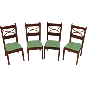 4 Renwal Dollhouse Dining Room Chairs