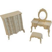 Dollhouse Dresser and Vanity Set Dollhouse Furniture