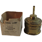 Kodak Alcohol Lamp for Lighting Magnesium Flash